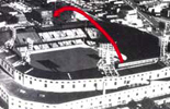Diagram of Mickey Mantle's 643-foot home run hit at Tiger Stadium in Detroit on Sept. 10, 1960 off pitcher Paul Foytack
