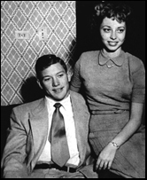 Mickey Mantle poses with high-school sweetheart Merlyn Johnson. Mickey and Merlyn married on December 23, 1951.
